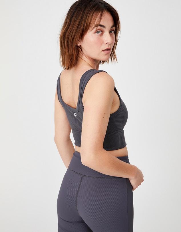 Women Rib Texture Vestlette