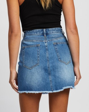 Atmos&Here Jade Recycled Cotton Blend Denim Mini Skirt skirts Mid Blue