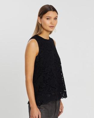 Lindsay Nicholas New York Lace Top - Tops (Black)