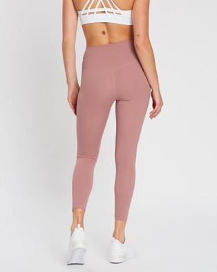 MOVEMAMI Odessa Leggings - Sports Tights (Pink Blossom)