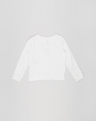 Free by Cotton On Classic Long Sleeve Tee   Teens - T-Shirts & Singlets (Vanilla & Ying Yang Flower)