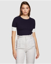 Oxford - Pepper Contrast Trim Knit