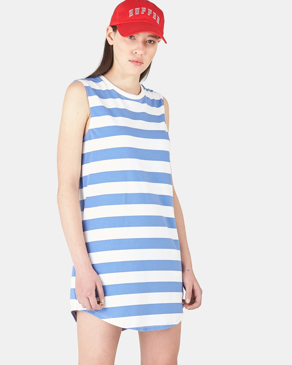 Huffer BLUE/WHITE Plaza S-S Hearts Dress