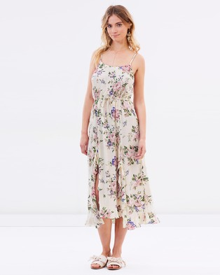Auguste The Label – Ella Split Front Day Dress Natural