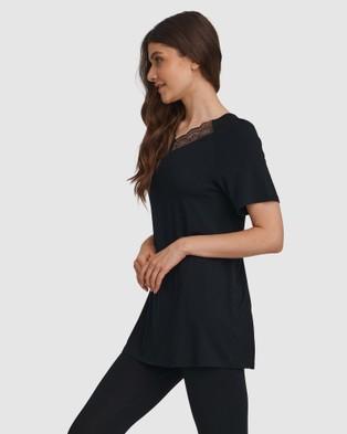 Oh!Zuza Lace Back Pyjama Set - Two-piece sets (Black)