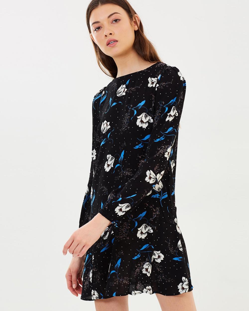 M.N.G Chiara Dress Printed Dresses Black Chiara Dress