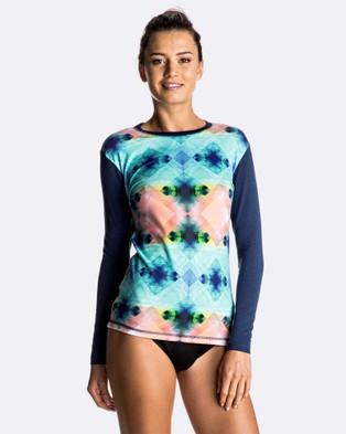 Roxy – Womens Pop Surf Long Sleeve T Shirt Rash Vest – Swimwear (MARSHMALLOW POP SURF)
