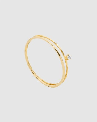 Luna Rae Solid Gold   Little Star Ring - Jewellery (Gold)