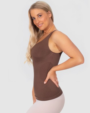 B Free Intimate Apparel Magic Shaping Tank - Compression Tops (Chocolate)