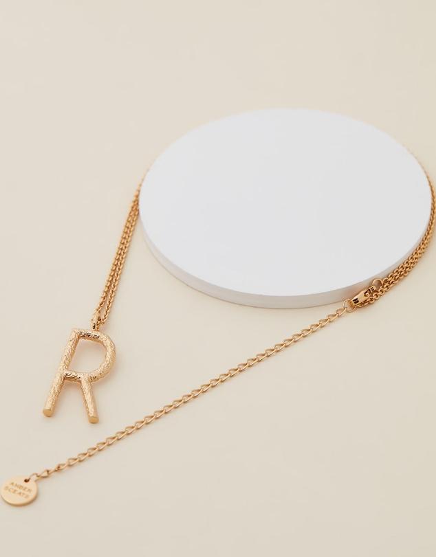 Women Grande Letter Necklace - R