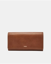 Fossil - Logan Brown RFID Flap Clutch