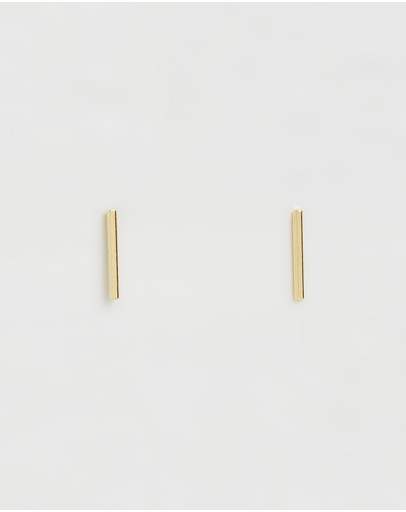 Orelia London Gold Plated Fine Bar Stud Earrings Pale