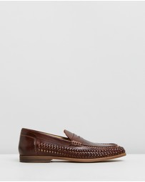 Double Oak Mills - Hampton Woven Penny Loafers