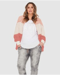 17 Sundays - Bubblegum Panelled Bomber Jacket