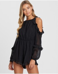 The Fated - Lioness Cold-Shoulder Frill Playsuit