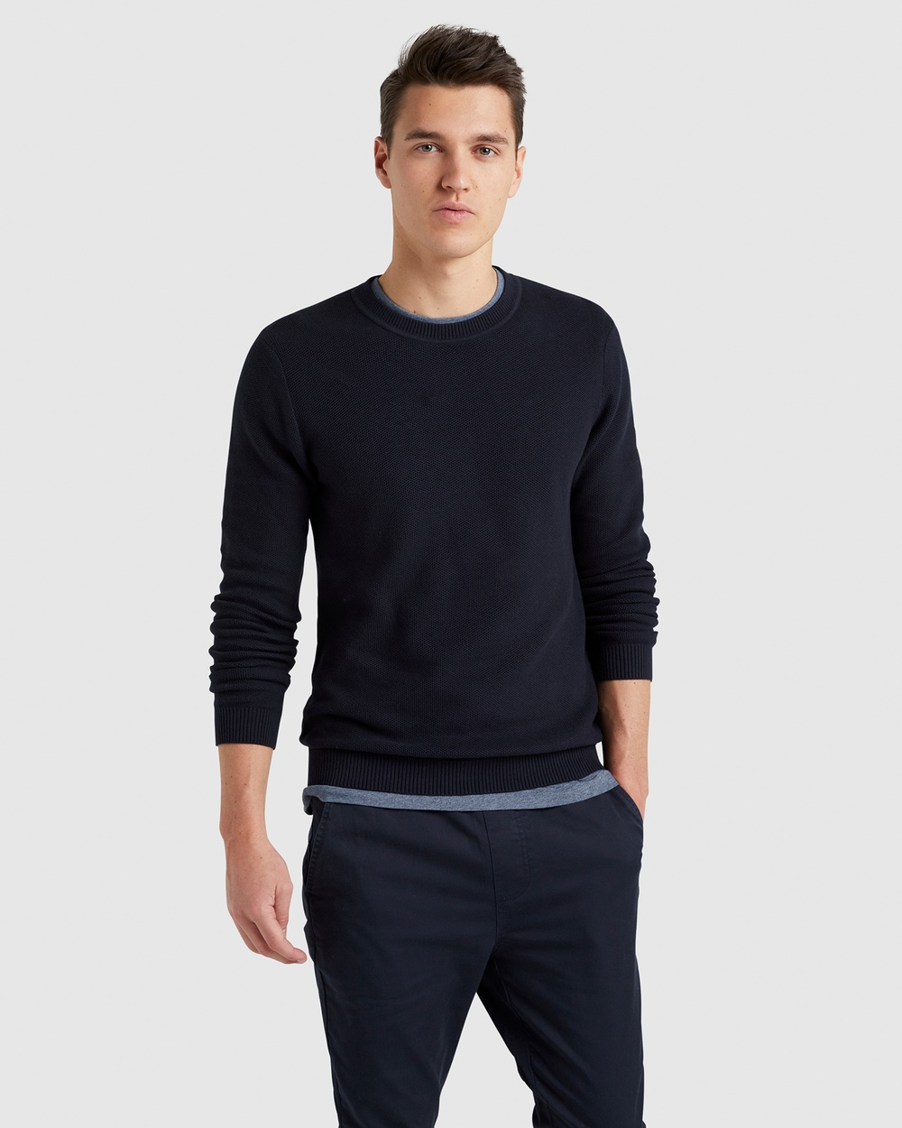 French Connection Cotton Knit Jumpers & Cardigans MARINE BLUE Australia