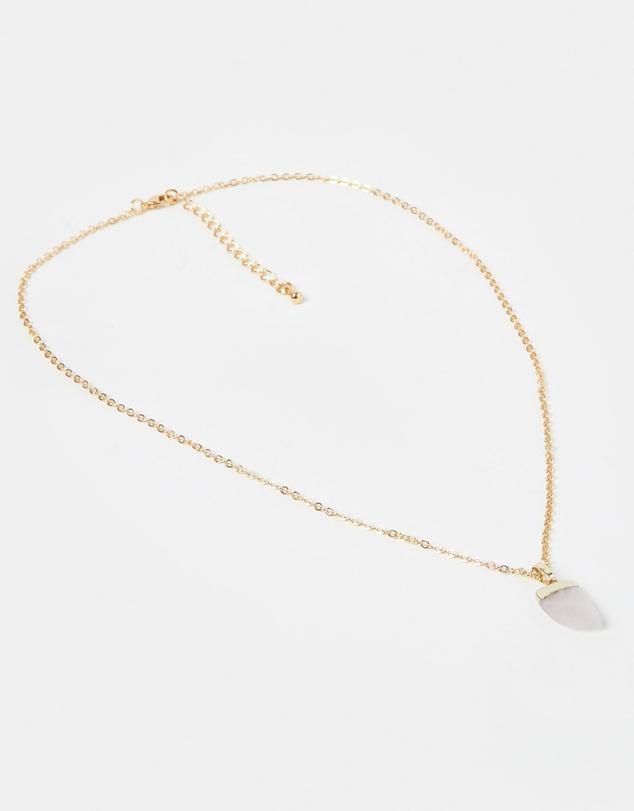 Women Stone Charm Necklace