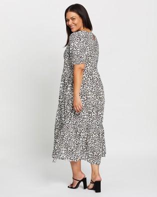 Atmos&Here Curvy Oliver Midi Dress - Printed Dresses (Animal Print)