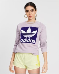 adidas Originals - Flocked Trefoil Crew
