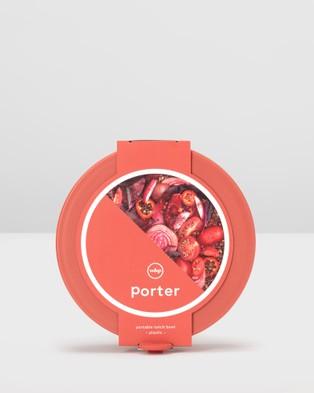 Porter Bowl Plastic - Home (Red)