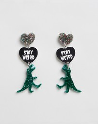 HAUS OF DIZZY - Stay Weird T-Rex Earrings