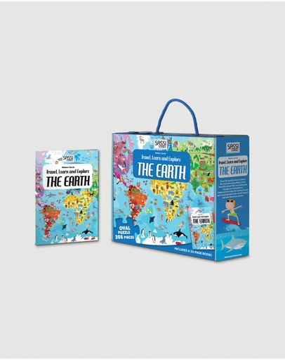 Sassi - Travel, Learn and Explore Puzzle & Book Set - The Earth