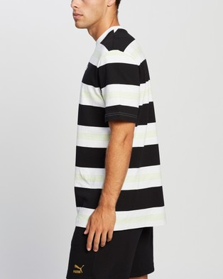 Puma Downtown Striped Tee - Clothing (Puma White)