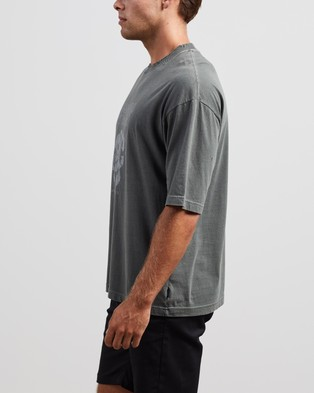 Afends - Recycle Or Die Oversized Tee T-Shirts & Singlets (Gunmetal)