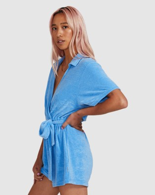 Insight Sky Towelling Playsuit - Jumpsuits & Playsuits (BLUE)