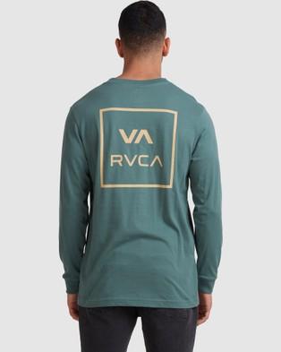 RVCA - Va All The Ways Ls Tee - T-Shirts & Singlets (BALSAM GREEN) Va All The Ways Ls Tee