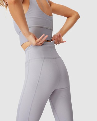 Cotton On Body Active Rib Pocket 7 8 Tights - 7/8 Tights (Quail)