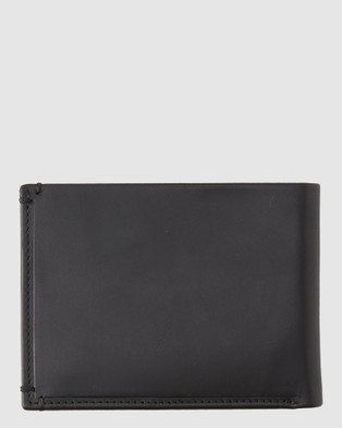 Quiksilver Lead Acktor Tri Fold Leather Wallet - Accessories (Black)