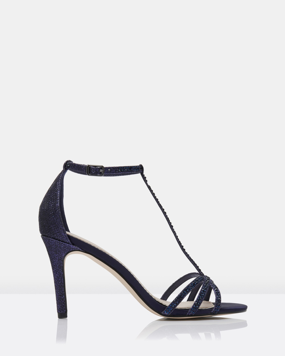 Forever New Juliette Heatfix Low Heeled Sandals Heels Navy Juliette Heatfix Low Heeled Sandals