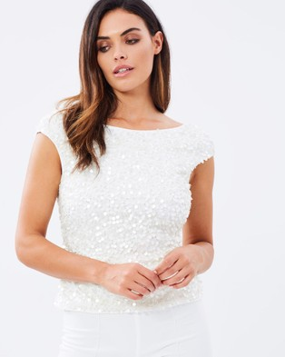 Montique – Avery Beaded Top – Tops (Ivory)