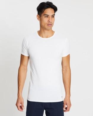 Tommy Hilfiger - 3 Pack Short Sleeve Tee - T-Shirts & Singlets (Black, Grey & White) 3-Pack Short Sleeve Tee