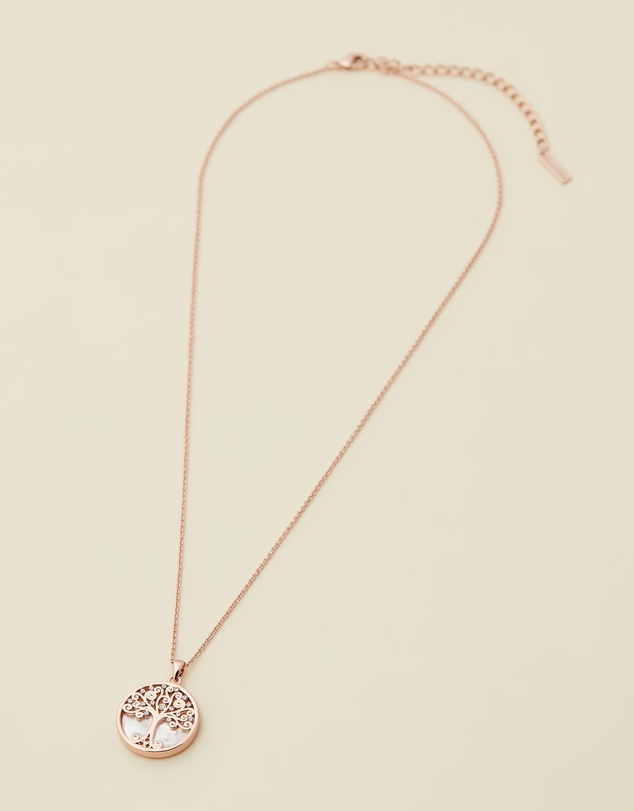 Women Willow Tree Of Life Necklace with Swarovski Crystals