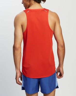 Nike Rise 365 Running Tank - Muscle Tops (Chile Red & Reflective Silver)