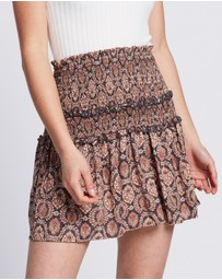 Auguste The Label - Montague Bennett Shirred Mini Skirt