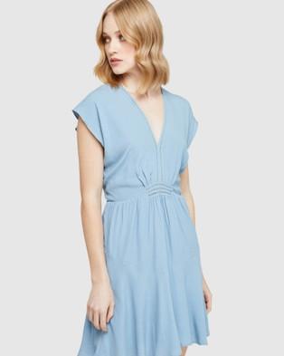 Oxford Inga Crochet Detail Dress - Dresses (Blue)