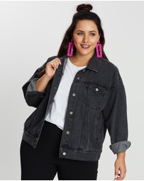 Missguided Curve - Oversized Washed Denim Jacket