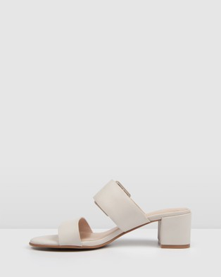 Jo Mercer Rain Low Slides Sandals Bone
