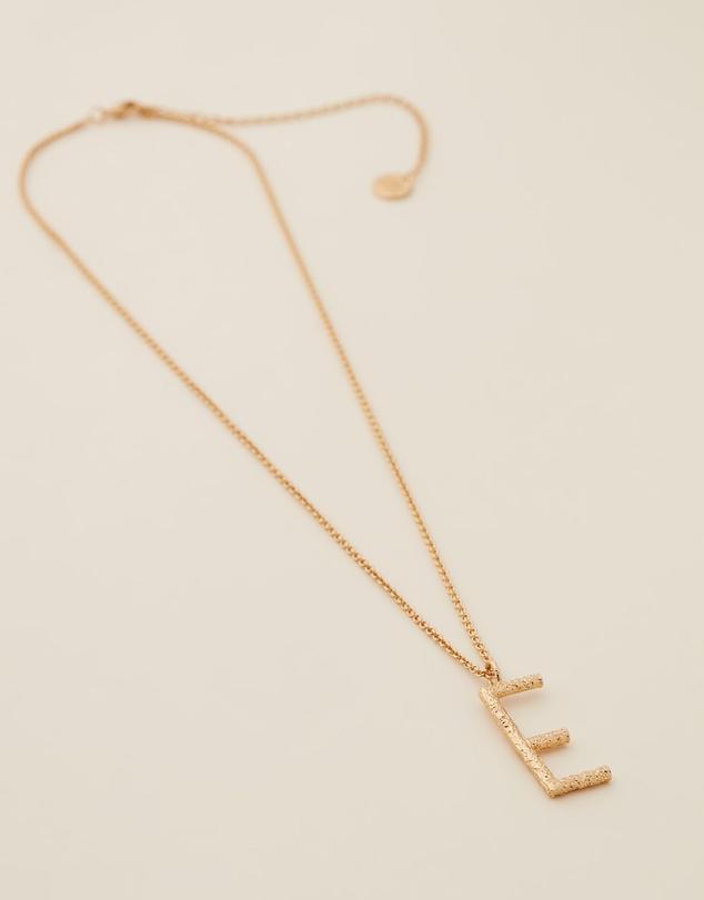 Women Grande Letter Necklace - E