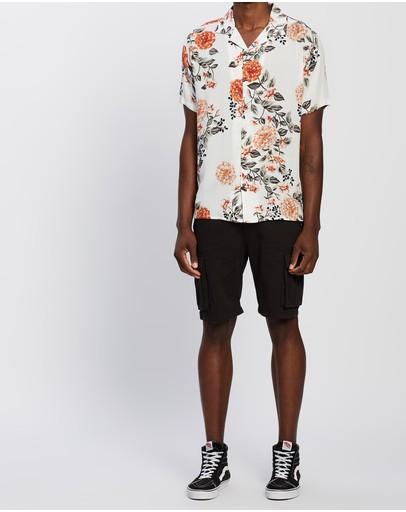 Rusty Monte Cristo Short Sleeve Shirt White