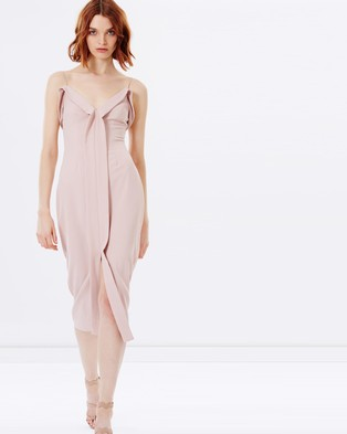 C/MEO COLLECTIVE – Because You Do Midi Dress – Bridesmaid Dresses Blush