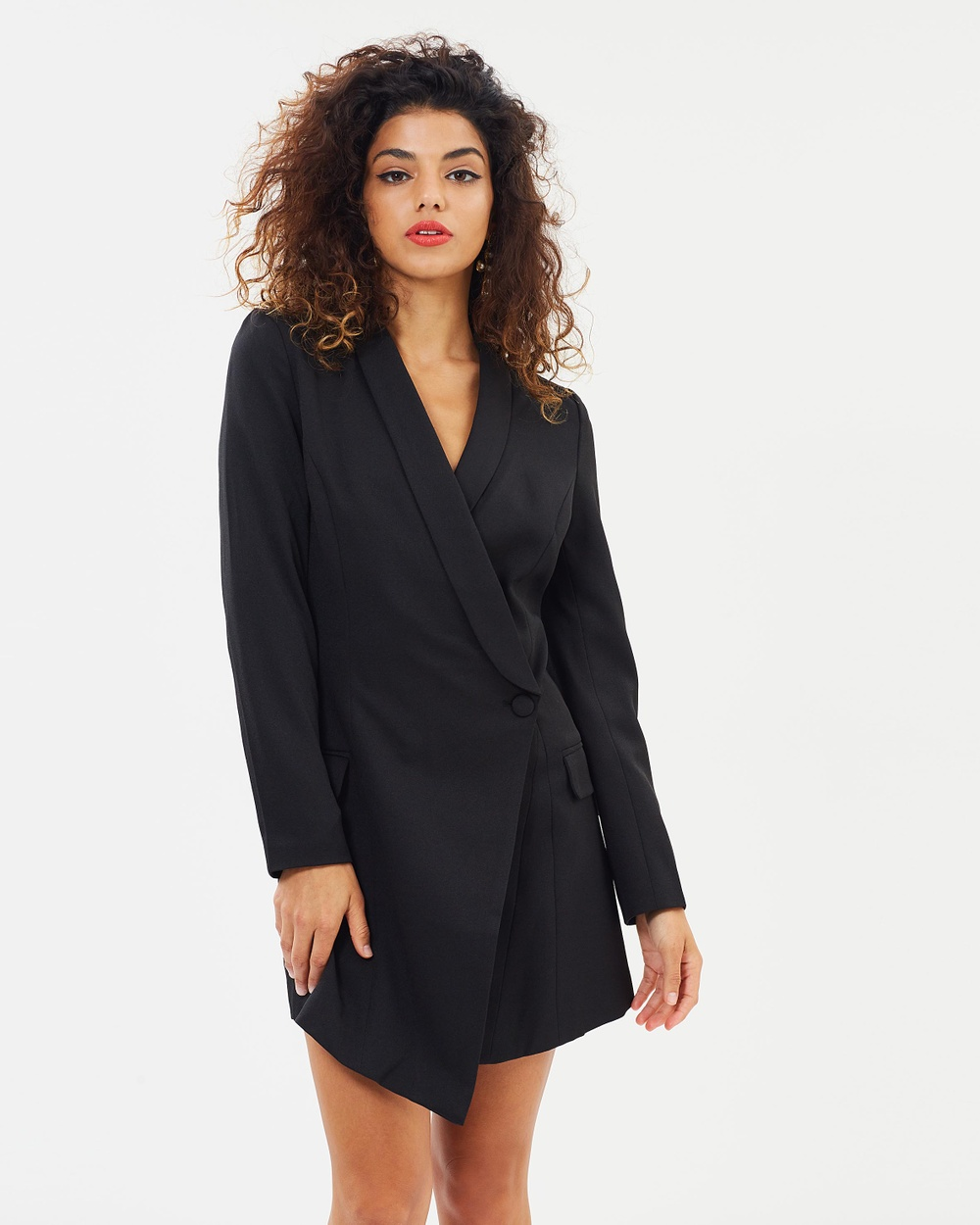 Missguided Petite Blazer Dress Dresses Black Blazer Dress