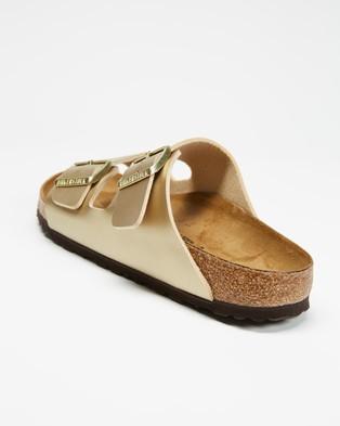 Birkenstock Arizona Birko?ÇÉFlor Narrow   Women's - Sandals (Gold)