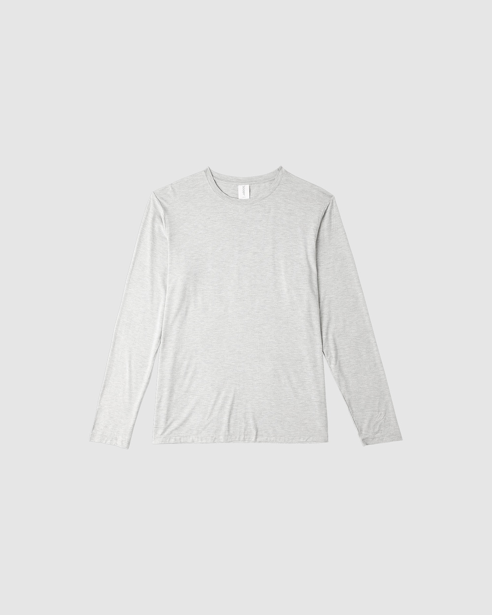 Boody Organic Bamboo Eco Wear - Long Sleeve Crew Neck T Shirt - Long Sleeve T-Shirts (Light Marl) Long Sleeve Crew Neck T-Shirt