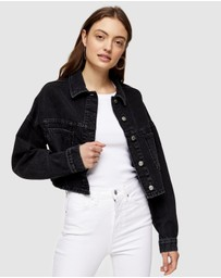 TOPSHOP - Cropped Denim Jacket