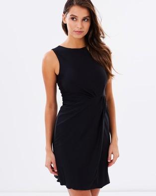 SKIVA – Wrap Mini Dress Black