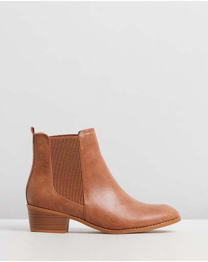 Spurr Philo Ankle Boots Tan Smooth